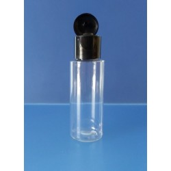 Flacon 55 ml avec bouchon FLIP TOP noir