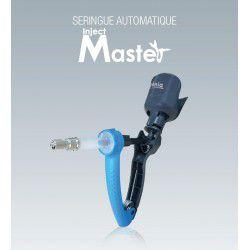 Seringue Automatique Injectmaster Génia dosage 5ml réglable, précision et maniabilité. Porte flacon. Embase en métal.