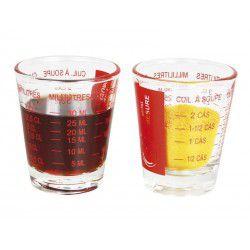 Mini-verres doseurs de 5 à 35ml en verre