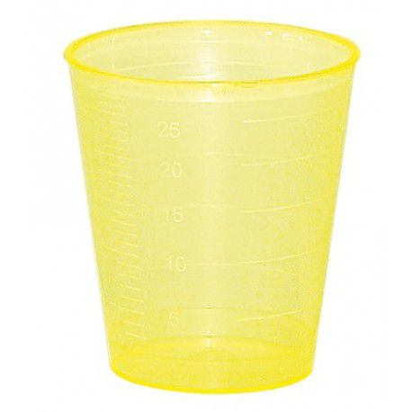 Godet doseur 30ml jaune
