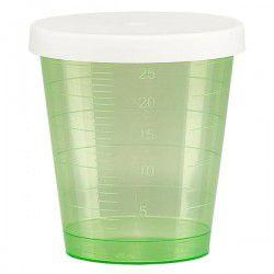 Godet doseur 30ml vert avec couvercle