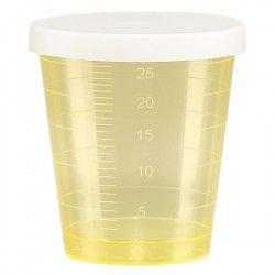 Godet doseur 30ml jaune avec couvercle